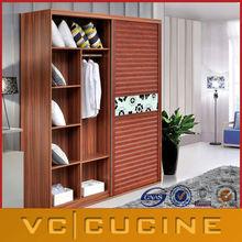 European style bedroom wooden wardrobe door designs