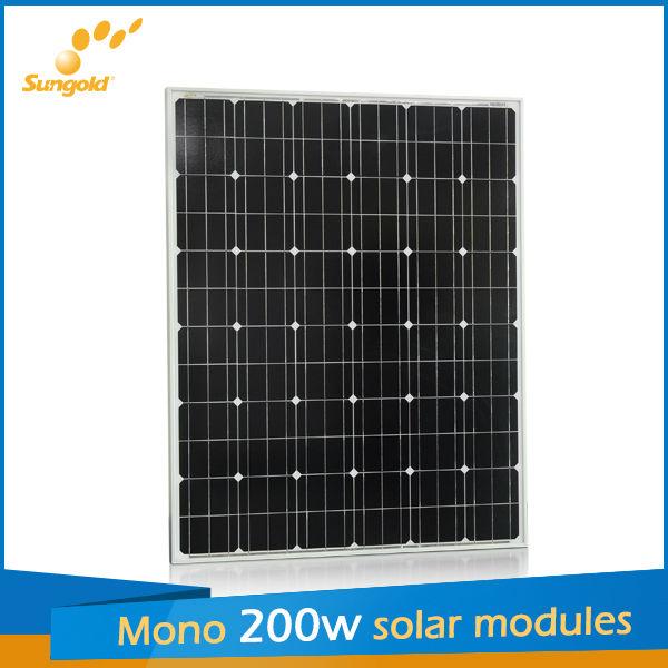 Sungold mono solar panels 200w made of Germany mono solar cells