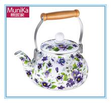 Enamel turkish teapot 2.5L in porcelain / STAINLESS STEEL TURKISH SAMOVAR STYLE DOUBLE TEA KETTLE & POT