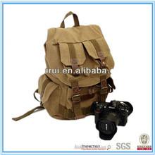 2014 hot selling retro fashion casual canvas shoulders dslr camera backpack bag