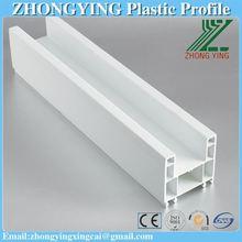 Two rails sliding window pvc profile decorative