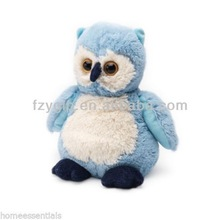 soft carton blue stuffed owl childern toy plush animal toys for promotional gift