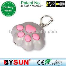 Cat Paw Sound led key rings plastic