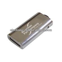2014 new model 2.0 metal pen usb flash drive real capacity 1-64GB free logo