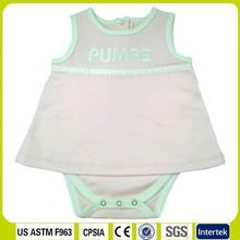 Baby modelos femeninos 100% falda de algodón de color rosa leotardo, baberodebebé, ropa del bebé de los fabricantes. Cachorro de ropa. Ropa del bebé de la fábrica