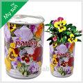 القصدير يمكن زهرة، الديكورات المنزلية، زهرة النبات وعاء