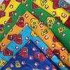 cotton pigment and reactive printed flannel fabric for pyjamas and garment