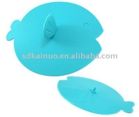Fish shaped silicone cup lid