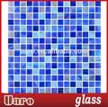 Mosaico azzurro/blu mosaico di vetro/parete mosaico