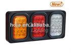 LED Tail Light Box, 3 Rectangular Light Assembly 12v truck light led