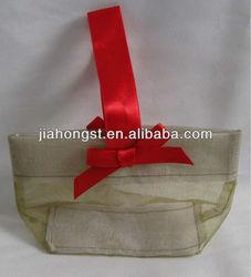bow organza tote bag