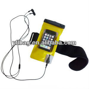 waterproof cell phone case for I phone with pvc