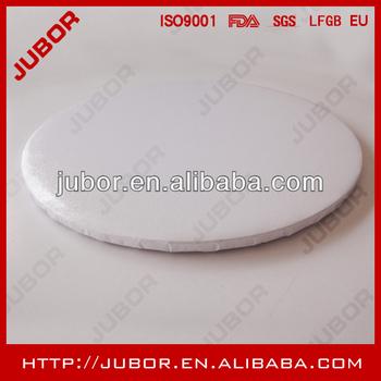 round non waxed white cake drum 12inch