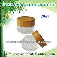 NEW cosmetic packaging bamboo cream jar 20ml acrylic bottle