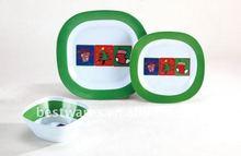 Christmas heat resistant party fine plastic 100% melamine dinnerware sets