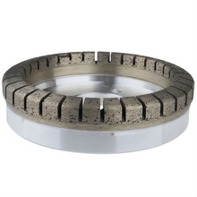 Glass diamond bond grinding segmental cup wheel to glass processing on double edger for GOLIVE