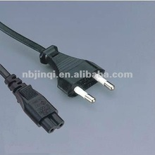European standard VDE 2 pin power cord with IEC320 C7 connector