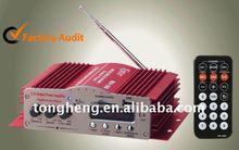 audio car amplifier with usb sd fm remote control