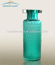 wholesale elegant small cylinder murano cut crystal single flower vase floor standing