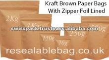 Plain Kraft Brown Paper packaging Bags