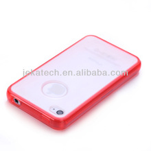 Gel Hard Cover hybrid Case For Iphone 4