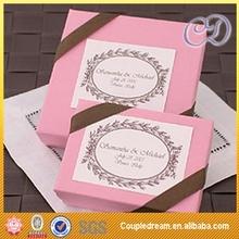 Small pink jordan almonds paper box