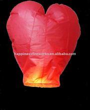 CE pasesd heart shape Sky Lanterns, fire balloon Chinese Kongming lantern Wishing Lamp