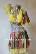 sequin dress . latin custom . latin performance dress