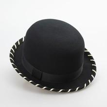 Elegant 100% wool felt bowler hat mens party hats