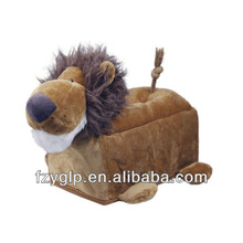 Plush animal toy lion tissue box funny tissue holder