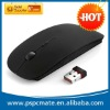 Black rubber surface 2.4G wireless mouse for Macbook windows xp vista 7 laptop PC travel