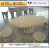 outdoor stone Table and bench, garden table/garden bench