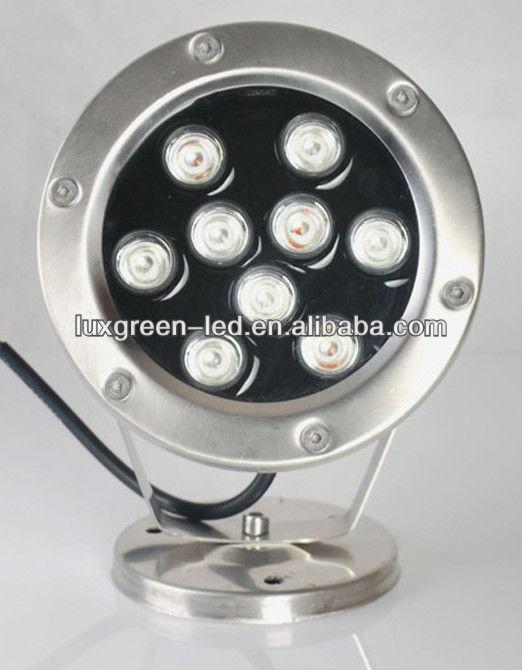 9x3w 3in1 ip68 rgb أدى ضوء بركة الماء نافورة ضوء led مع ضمان 3 سنوات