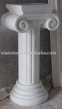 small white wedding pillars