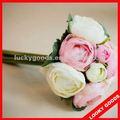 Bela flor de seda artificial mini bouquet, falso flores buquê de casamento