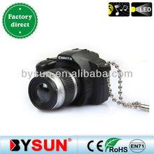 (BS-032) Adorable SLR camera Sound key rings plastic