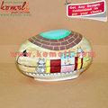 Papel mache( papier mache) pintados à mão igloo's casa shapped ovo trinket caixas