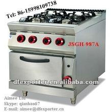 Gas range with 4-burner&oven-JSGH-787A