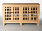 Chinese antique natural recycle wood bleached kitchen cabinet