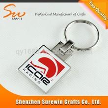 enamel printing effect racing souvenir metal keychain