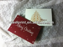 Colorful handmade happy new year greeting card wholesale with envelop