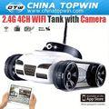 Rc kits de espionagem 2.4g 4ch tanque wifi com câmera tanque de rc rc brinquedo carro rec46287