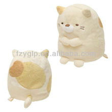 lovely soft carton plush cat toys, fat cat stuffed toy for promotional gifts 12cm