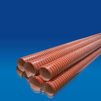 Highly flexible silicone glass fiber hose