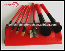brushes set goat make up, goat hair makeup brushes,animal hair make up brush