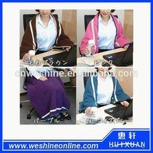 Fashion multifunction polar fleece shawl blanket as seen on tv