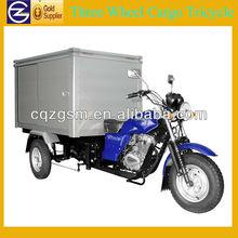 200cc Gasoline three wheeler with closed cargo box
