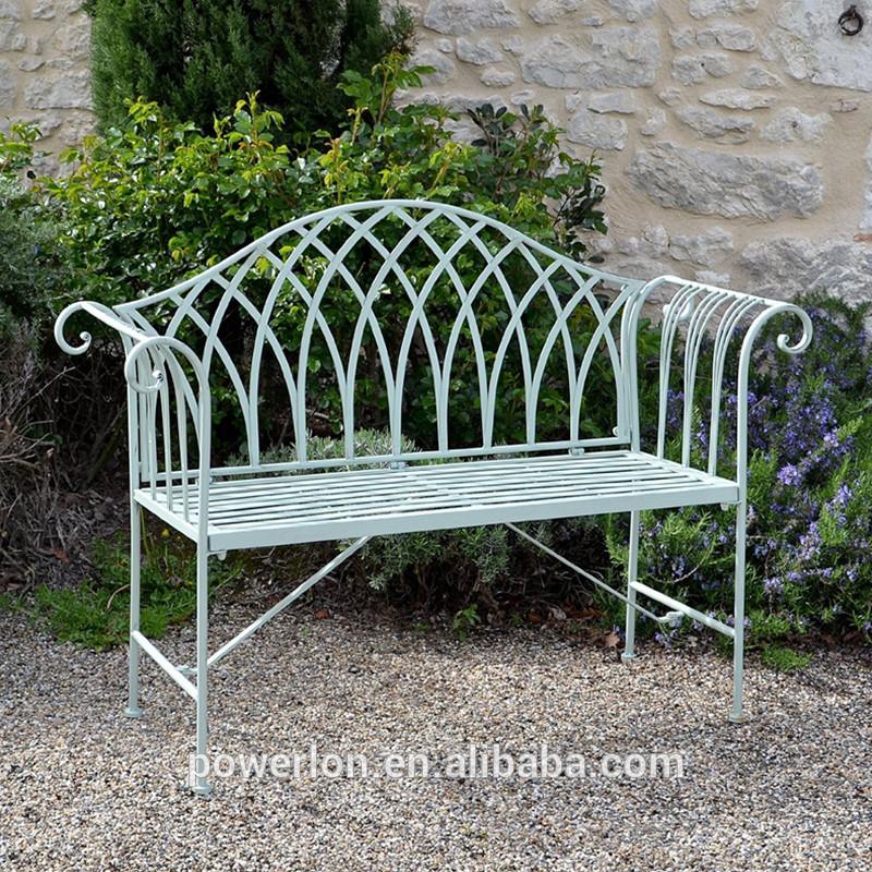 banco de jardim metal:antique metal antiferrugem portable jardim banco dobrável-Cadeiras
