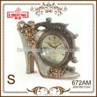 672AM European classic style polyresin crystal quartz desk clock