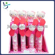 Plastic cartoon animal candy fan with novelty figures (lighting)12pcs/box